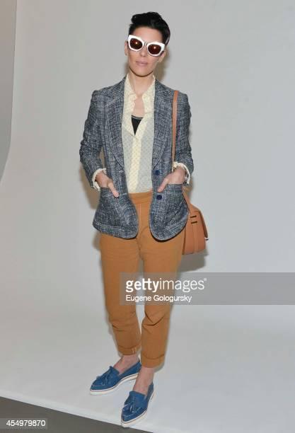7369d7d3c2e1 Designer Karen Walker attends Karen Walker during MercedesBenz Fashion Week  Spring 2015 at Pier 59 Studios