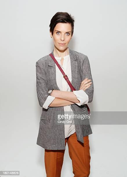 Designer Karen Walker poses backstage at the Karen Walker fashion show during Mercedes-Benz Fashion Week Spring 2014 at Pier 59 on September 9, 2013...
