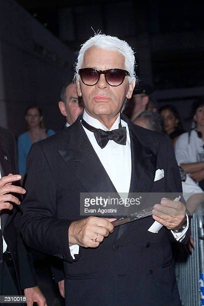 Designer Karl Lagerfeld at the 20th Annual American Fashion Awards at Avery Fisher Hall Lincoln Center in New York City Photo Evan Agostini/Getty...