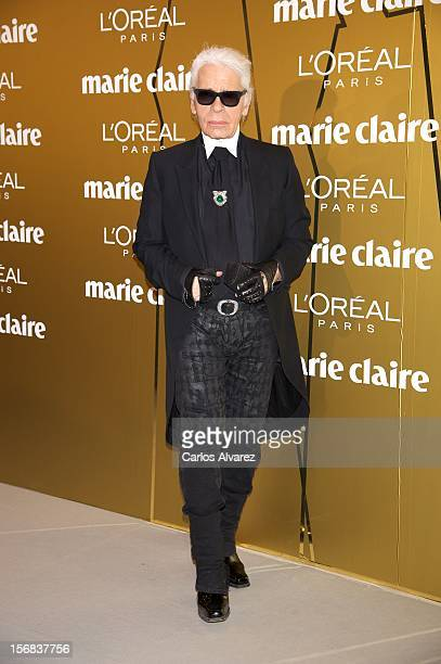 Designer Karl Lagerfeld attends Marie Claire Prix de la Moda Awards 2012 at the French Embassy on November 22 2012 in Madrid Spain