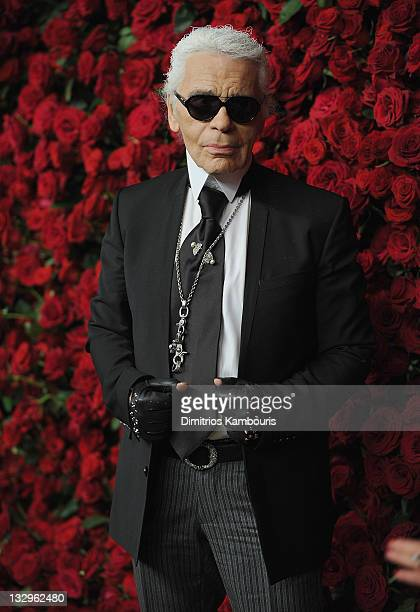 Designer Karl Lagerfeld attends the Museum of Modern Art's 4th Annual Film benefit A Tribute to Pedro Almodovar at the Museum of Modern Art on...