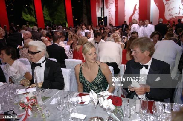 Designer Karl Lagerfeld Charlene Wittstock Prince Ernst August of Hanover attend the Monaco Red Cross Ball under the Presidency of HSH Prince Albert...