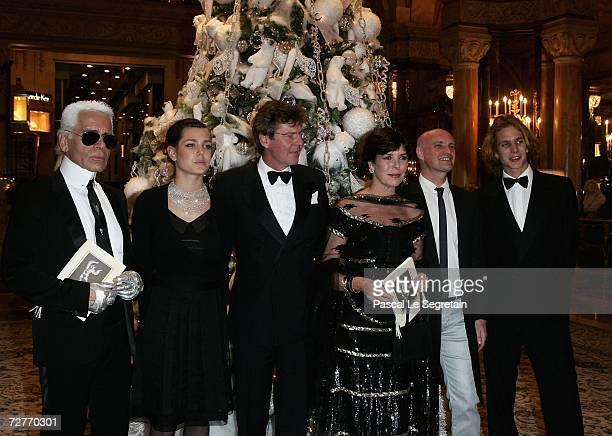 Designer Karl Lagerfeld Charlotte Casiraghi Prince Ernst August of Hanover Princess Caroline of Hanover former dancer JeanChristophe Maillot...