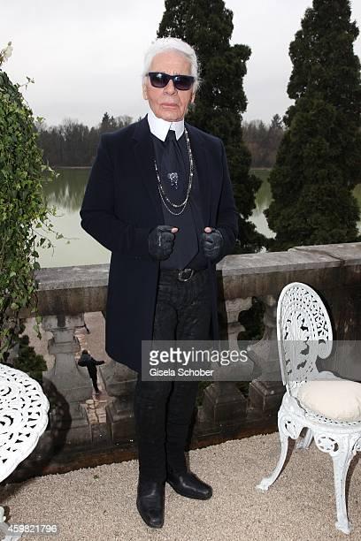 Designer Karl Lagerfeld during the Chanel Metiers d'Art Collection 2014/15 ParisSalzburg on December 2 2014 in Salzburg Austria