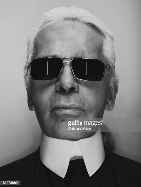 Designer Karl Lagerfeld photographed for Apple on June 27 in New York City
