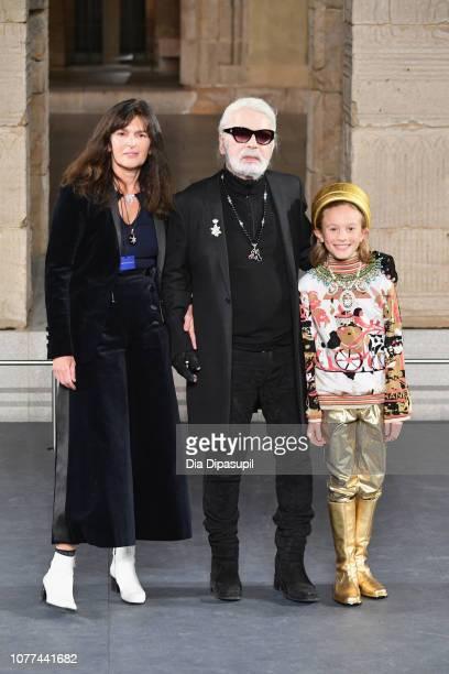 Designer Karl Lagerfeld walks the runway at Chanel Metiers D'Art 2018/19 Show at The Metropolitan Museum of Art on December 04 2018 in New York City