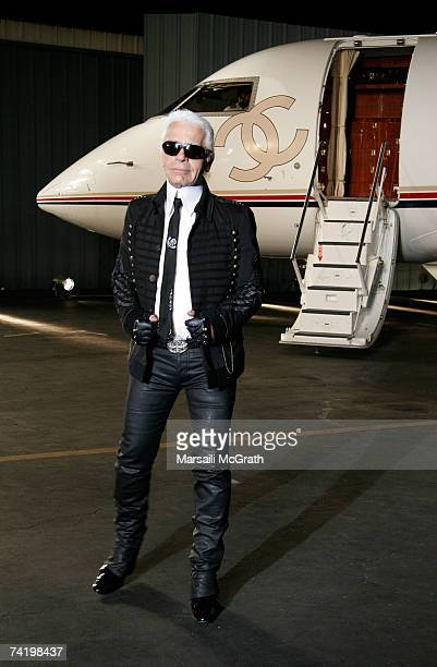 Designer Karl Lagerfeld walks the runway at the 2007/8 Chanel Cruise Show Presented By Karl Lagerfeld held at Hangar 8 on May 18 2007 in Santa Monica...
