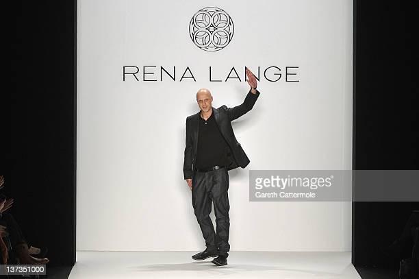 Designer Karsten Fielitz on the runway at the Rena Lange Autumn/Winter 2012 fashion show during Mercedes-Benz Fashion Week Berlin at the Brandenburg...