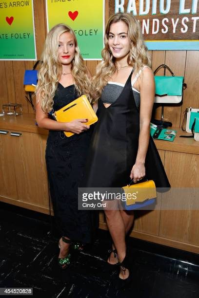 Designer Kate Foley and DJ Chelsea Leyland pose for a photo at the Time's Arrow Kate Foley Presentation during MercedesBenz Fashion Week Spring 2015...