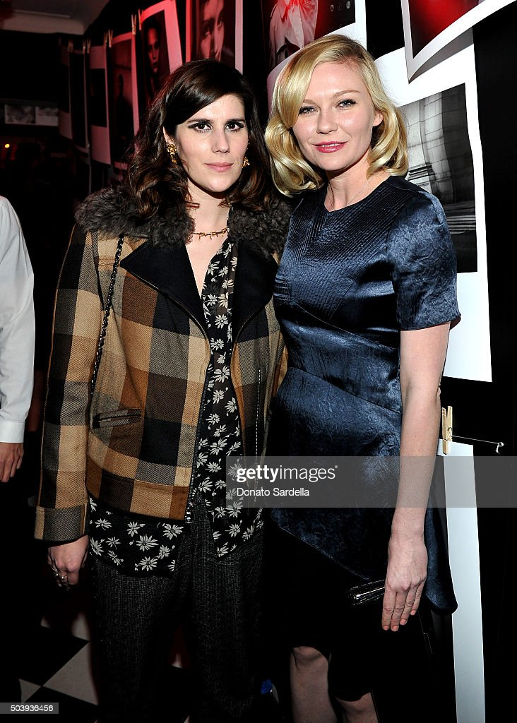 Designer Kate Mulleavy (L) and actress Kristen Dunst attend the W Magazine celebration of the 'Best Performances' Portfolio and The Golden Globes with Audi and Dom Perignon at Chateau Marmont on January 7, 2016 in Los Angeles, California.