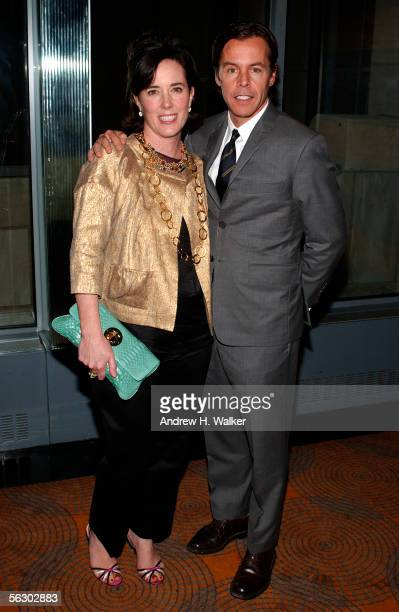 Designer Kate Spade and her husband Andy Spade attend the Annual Benefit for the Children's Advocacy Center on November 29 2005 in New York City