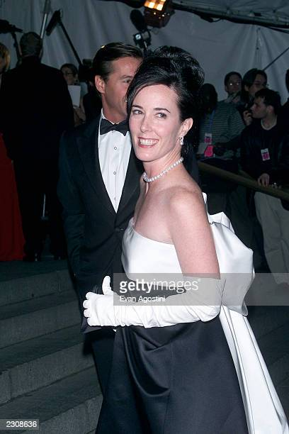 Designer Kate Spade arrives at the Metropolitan Museum's Costume Institute Gala for the opening of 'Jacqueline Kennedy The White House Years' at the...