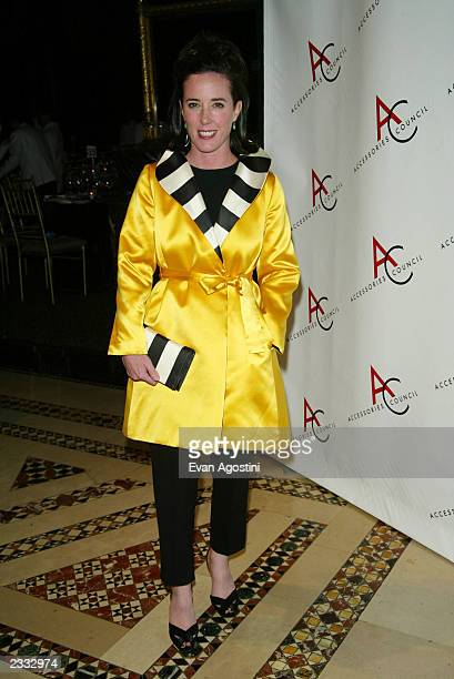 Designer Kate Spade arriving at the 2002 Ace Awards presented by The Accessories Council at Cipriani 42nd Street in New York City November 5 2002...