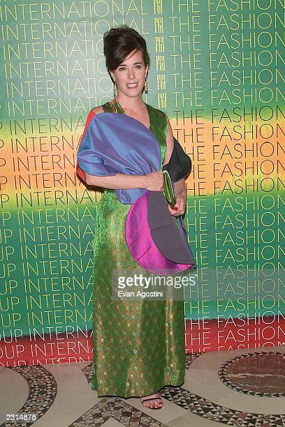 Designer Kate Spade at The Fashion Group International 'Night Of Stars 2001: Dynasty - Generations of Design' awards gala at Cipriani 42nd St. In New...