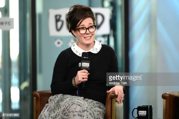 Designer Kate Spade attends AOL Build Series to discuss her latest project Frances Valentine at Build Studio on April 28 2017 in New York City