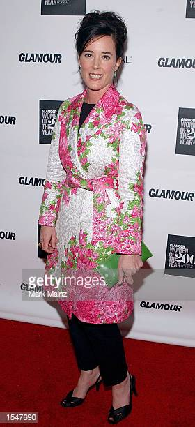 Designer Kate Spade attends the 13th Annual Glamour Women of the Year Awards on October 28, 2002 at the Metropolitan Museum of Art in New York City.