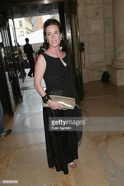 Designer Kate Spade attends the 2004 CFDA Fashion Awards at the New York Public Library June 7 2004 in New York City
