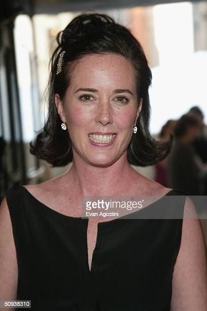"Designer Kate Spade attends the ""2004 CFDA Fashion Awards"" at the New York Public Library June 7, 2004 in New York City."