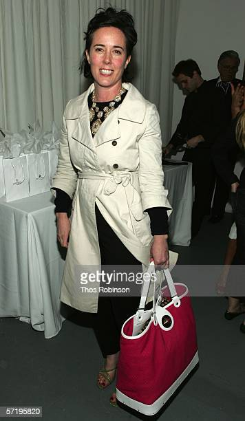 Designer Kate Spade attends the 2006 CFDA Fashion Awards Nominations at Rooftop Gardens Rockefeller Center on March 27 2006 in New York City