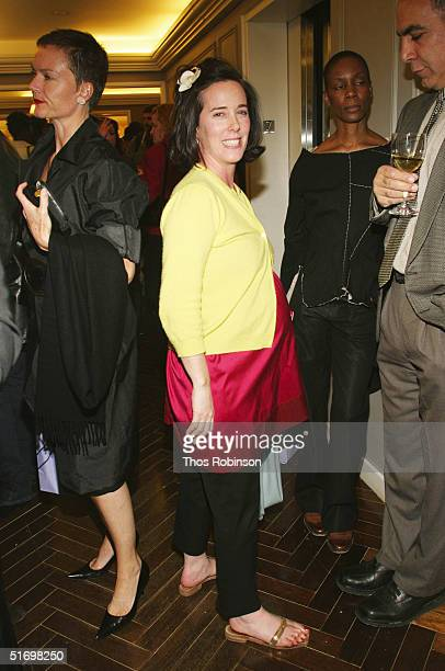 Designer Kate Spade attends the launch party for Serena Bass' Cookbook at Bergdorf Goodman on November 8 2004 in New York City