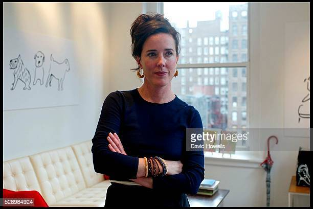 Designer Kate Spade is photographed at her offices