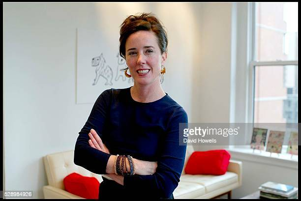 Designer Kate Spade is photographed at her offices.