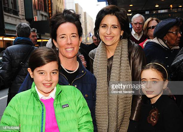 Designer Kate Spade with daughter Beatrix Spade and Darcy Miller with her daughter Daisy Nussabaum attend the 5000 performance celebration of Mamma...