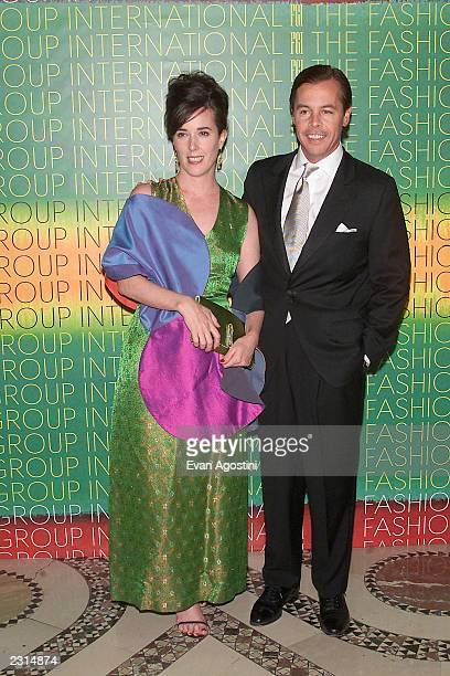 Designer Kate Spade with husband Andy Spade at The Fashion Group International 'Night Of Stars 2001 Dynasty Generations of Design' awards gala at...