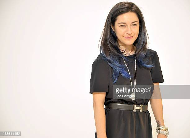 Designer Katharine Polk at the Houghton fall 2012 fashion show during MercedesBenz Fashion Week at Avery Fisher Hall Lincoln Center on February 9...