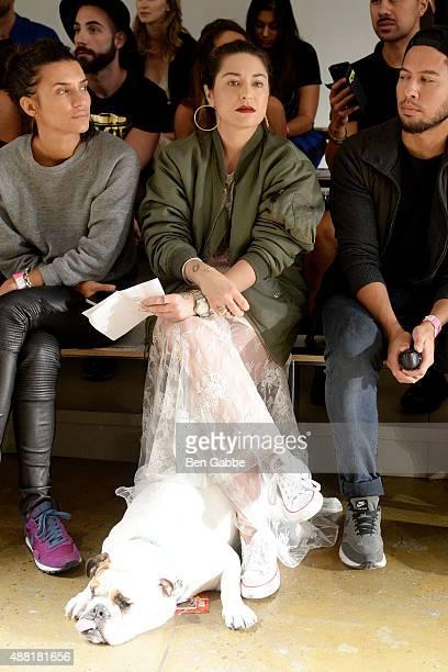 Designer Katharine Polk at the Houghton Fashion Show rehearsal during Spring 2016 MADE Fashion Week at Milk Studios on September 14 2015 in New York...