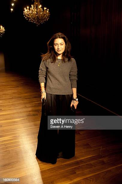 Designer Katharine Polk attends Houghton during Fall 2013 MercedesBenz Fashion Week at The High Line Room The Standard Hotel on February 7 2013 in...