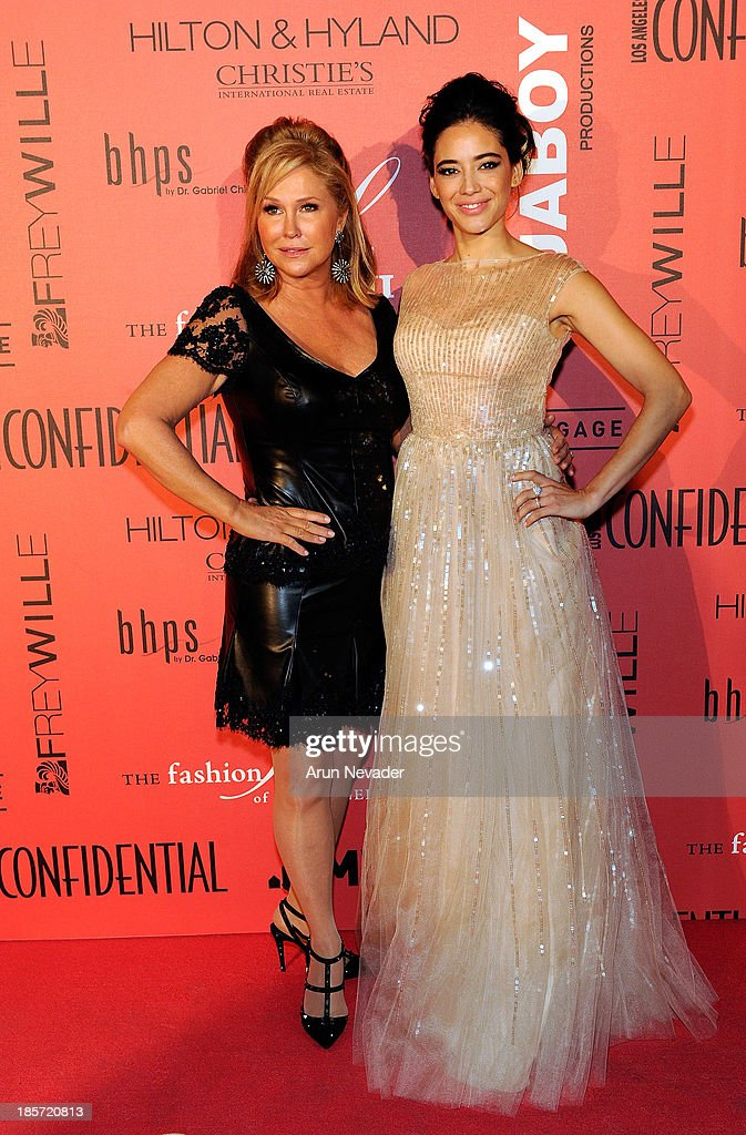 Designer Kathy Hilton and her muse, actressEdy Ganem arrive at 5th Annual Designer & The Muse Hosted By Kathy Hilton at Mr. C Beverly Hills on October 23, 2013 in Beverly Hills, California.