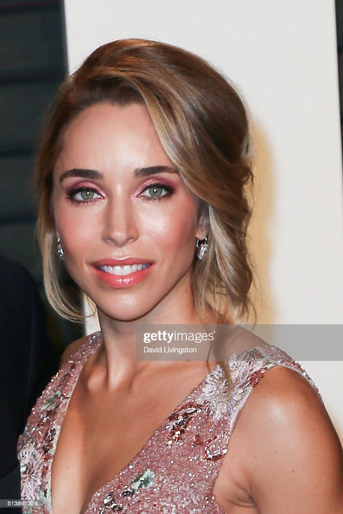 Designer Katia Francesconi arrives at the 2016 Vanity Fair Oscar Party Hosted by Graydon Carter at the Wallis Annenberg Center for the Performing Arts on February 28, 2016 in Beverly Hills, California.
