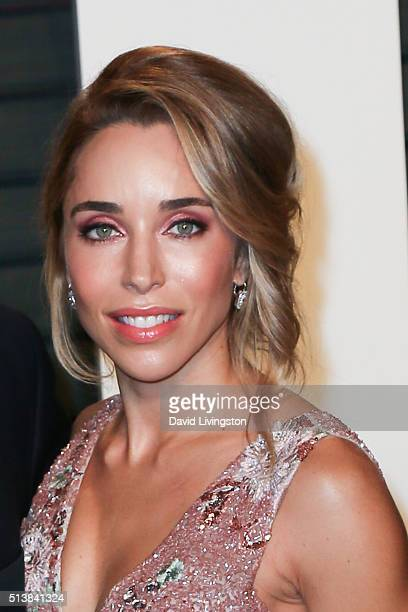 Designer Katia Francesconi arrives at the 2016 Vanity Fair Oscar Party Hosted by Graydon Carter at the Wallis Annenberg Center for the Performing...