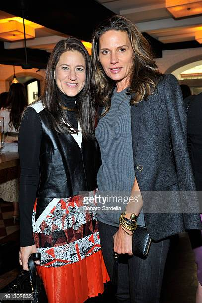 Designer Kendall Conrad and socialite Katherine Ross attend Lynn Hirschberg Celebrates W's It Girls with Piaget and Dom Perignon at AOC on January 10...