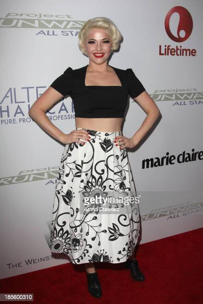 Designer Kenely Collins attends the Project Runway All Stars Season 3 premiere party presented by The Weinstein Company and Lifetime in partnership...