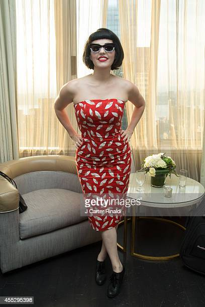 Designer Kenley Collins attends Malan Breton New York Fashion Week Closing Party at The London Hotel on September 11 2014 in New York City