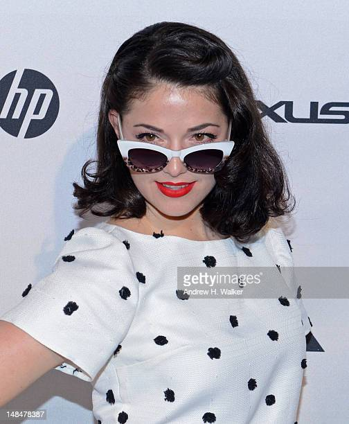 Designer Kenley Collins attends the Project Runway LifeSized Interactive Runway installation on The High Line In New York at The High Line on July 17...