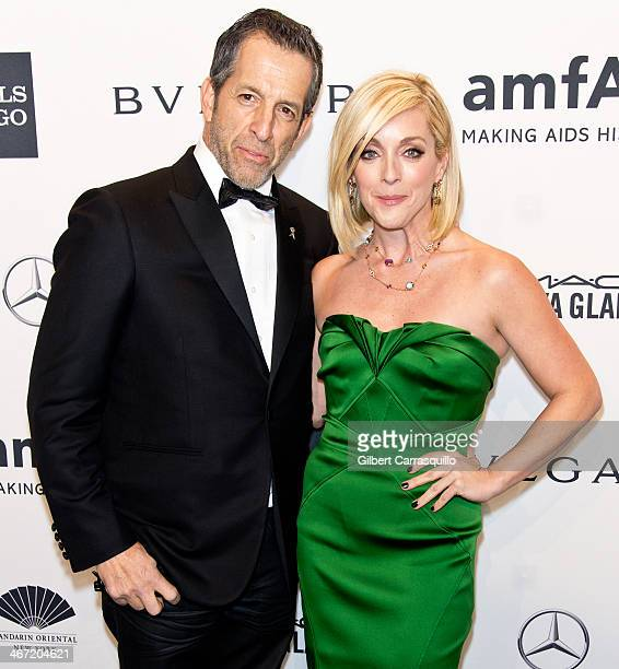 Designer Kenneth Cole and actress Jane Krakowski attend the 2014 amfAR New York Gala at Cipriani Wall Street on February 5 2014 in New York City
