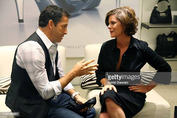 Designer Kenneth Cole and actress Marcia Gay Harden attend the Silver 925 Technology launch at the Kenneth Cole New York Rockefeller Center Store on...