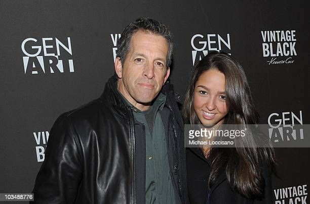 Designer Kenneth Cole and daughter Catie Cole arrive at the Kenneth Cole Vintage Black party at the Gen Art Lounge on January 23 2010 in Park City...