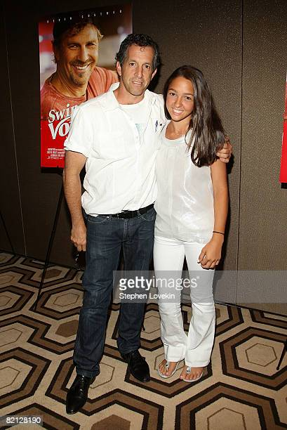 Designer Kenneth Cole and daughter Catie Cole attend a screening of Swing Vote hosted by Touchstone Pictures and Treehouse Films at The Tribeca Grand...