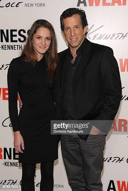 Designer Kenneth Cole and daughter Catie Cole attend the Awearness book launch at Kenneth Cole New York on November 12 2008 in New York City