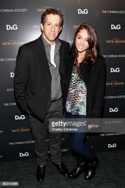 Designer Kenneth Cole and daughter Catie Cole attend the Cinema Society screening of The Twilight Saga New Moon at Landmark's Sunshine Cinema on...
