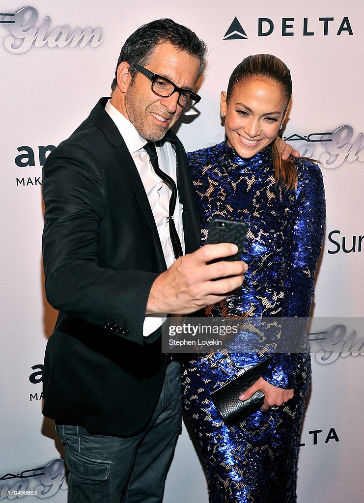 Designer Kenneth Cole and Jennifer Lopez attends the 4th Annual amfAR Inspiration Gala New York at The Plaza Hotel on June 13, 2013 in New York City.