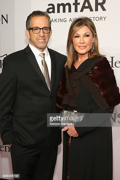 Designer Kenneth Cole and Maria Cuomo Cole attend 2016 amfAR New York Gala at Cipriani Wall Street on February 10 2016 in New York City