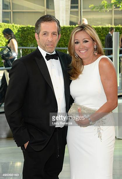 Designer Kenneth Cole and Maria Cuomo Cole attend the 2014 CFDA fashion awards at Alice Tully Hall Lincoln Center on June 2 2014 in New York City