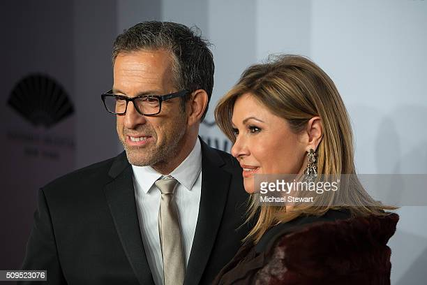 designer Kenneth Cole and Maria Cuomo Cole attend the 2016 amfAR New York Gala at Cipriani Wall Street on February 10 2016 in New York City