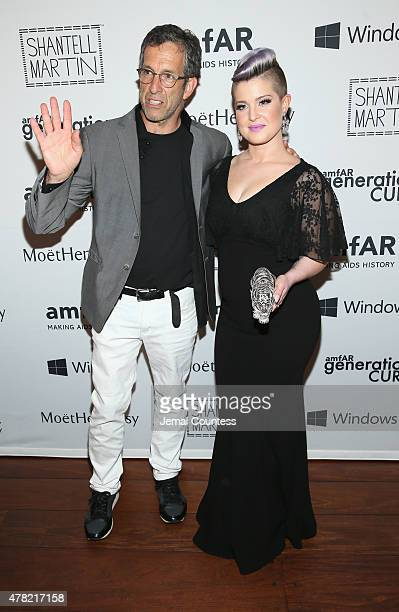 Designer Kenneth Cole and singer Kelly Osbourne attends 4th Annual Solstice Presented By amfAR's generationCURE at Hudson Hotel on June 23 2015 in...