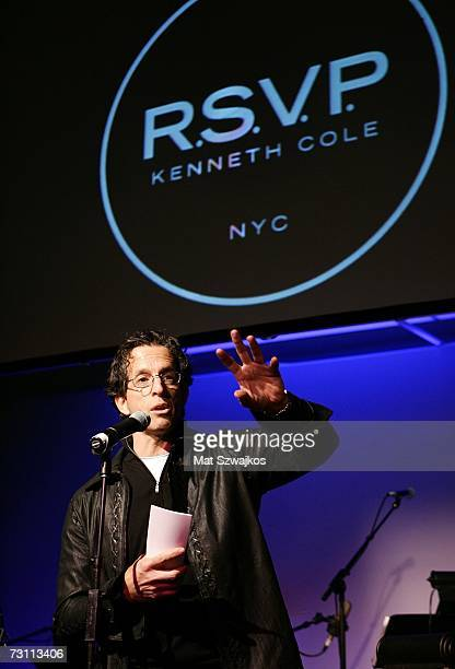 "Designer Kenneth Cole on stage at Kenneth Cole's ""R.S.V.P. To HELP"" benefit hosted by Kenneth Cole and Jon Bon Jovi at the Tribeca Rooftop on January..."